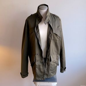 GE SHAN PIN YUE Army Green Utility Jacket XL